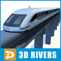 3d shanghai maglev train
