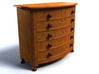 chest drawers 3d obj