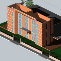 building facade obj