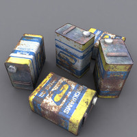 corroded engine oil 3d obj