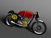 racing matchless g50 1954 3d model