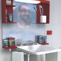 3d model lavabo toilet