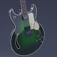 guitar rock 3d model