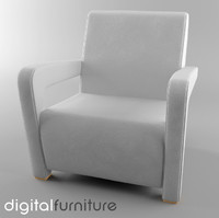3d armchair digital model
