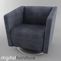 3d 3ds armchair digital