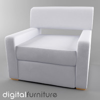 3d model armchair digital