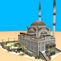 arab mosque environments 3d model