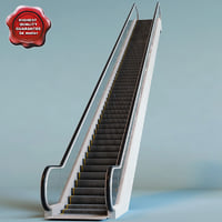 3d escalator interior modelled