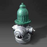 3d model hydrant
