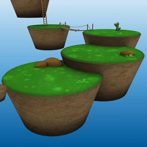 3dsmax platform levels - Platform Game Levels... by William Riker
