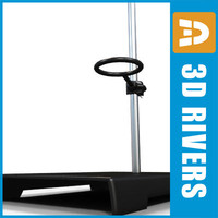 Support stand with clamp 01 by 3DRivers