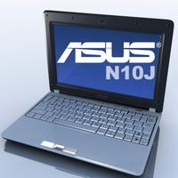 notebook asus n10j 3d model