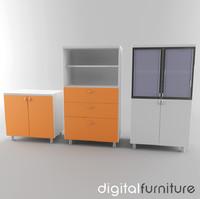 office storage 3d 3ds