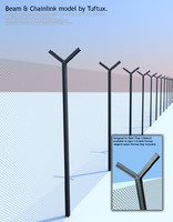 beam chainlink 3d model