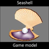 3d model seashell -