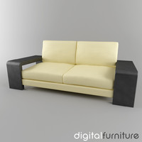 sofa digital 3d 3ds