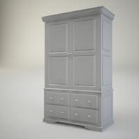 3d model console locker