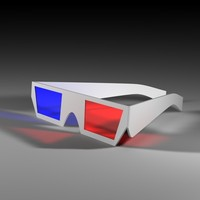 3d model glasses movies
