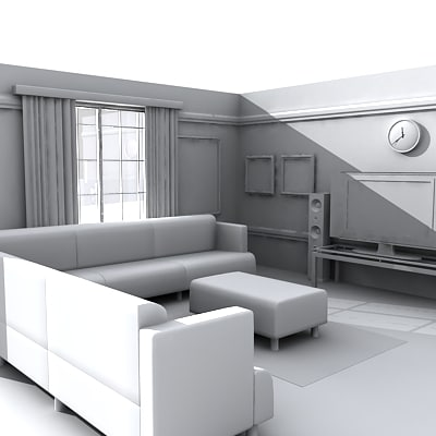 3d model living room - interior_003.zip... by Giimann