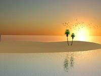 tropical island 3d max