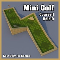 Low Poly Mini Golf Hole C1H9