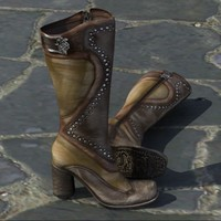 3d model heel female boots mark