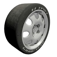 maya car wheel tires