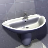 3d bathroom washbasin