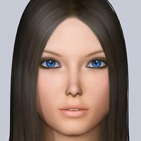 3d jana realistic female character rigged model