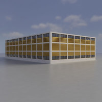 multi purpose building 3d obj