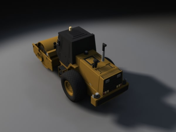 3ds max road roller - High Poly Road Roller... by SamuelYing