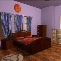 file bed room 3d model