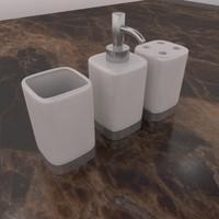 3d bathroom accessories model