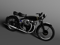 3d model of vincent black shadow 1950