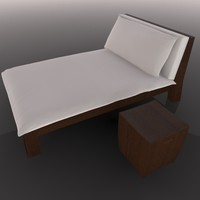 lounger table 3d c4d