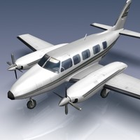 piper chieftain aircraft pa-31-350 3d model