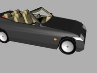 convertible car 3ds