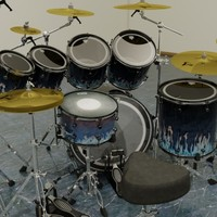 3d drum set kit 7pc