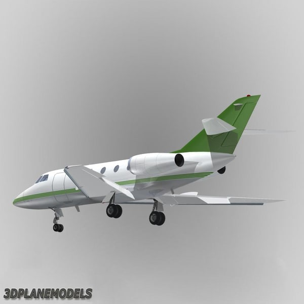 3d model dassault falcon 20 200 - Dassault Falcon 20/200 Private livery 8... by 3Dplanemodels