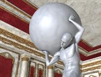 maya statue man