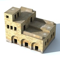 arab building 3d 3ds