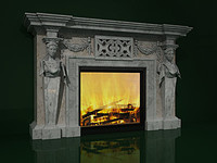 fireplace classic 3d max