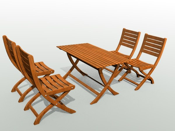 3d model garden furniture. Black Bedroom Furniture Sets. Home Design Ideas