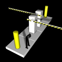 entrance barrier gate 3d 3ds