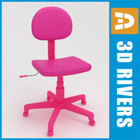 3d kid computer chair model