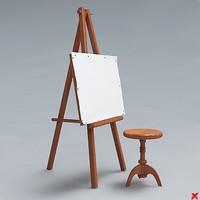 3d easel model