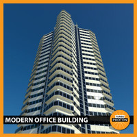 3d modern office building 02