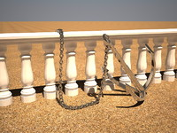 3d anchor chain balustrade