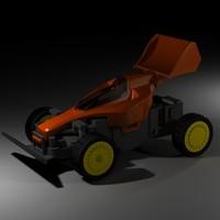 animation race car 3d 3ds