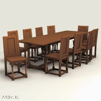 Dinner Table and chairs - 1680